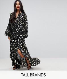 Платье макси с длинными рукавами Y.A.S Tall - Черный