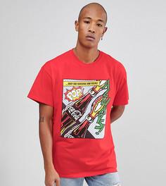 Свободная футболка с принтом Reclaimed Vintage Inspired x Coca Cola - Красный