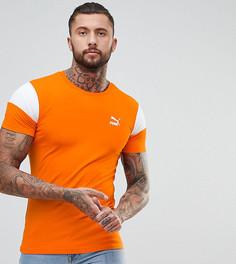 Оранжевая обтягивающая футболка со вставками Puma эксклюзивно для ASOS - Оранжевый