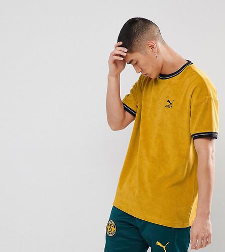 Желтая махровая футболка Puma эксклюзивно для ASOS - Желтый
