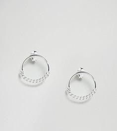 Серебряные серьги-гвоздики с кольцами ASOS - Серебряный