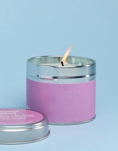 Свеча с ароматом вишни и ванили в декоративной баночке Flamingo - Мульти