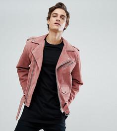 Замшевая байкерская куртка Reclaimed Vintage Inspired - Розовый