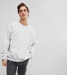 Светло-серый оверсайз-свитшот Reclaimed Vintage Inspired - Серый
