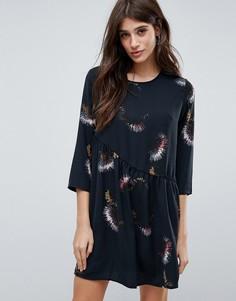 Платье с принтом и асимметричным подолом JDY - Мульти