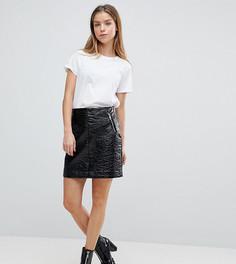 Виниловая мини-юбка Noisy May Petite - Черный