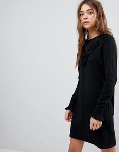Платье с оборками Only - Черный