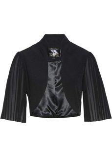 Болеро с плиссированными рукавами (черный) Bonprix