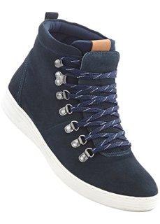 Кеды на шнурках (темно-синий) Bonprix