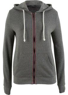 Трикотажная куртка (серый меланж) Bonprix