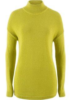 Пуловер с воротником-стойкой (фисташковый) Bonprix