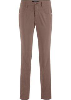 Прямые брюки стретч (коричневый матовый) Bonprix