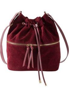 Сумка-мешок с дополнительным карманом (кленово-красный) Bonprix