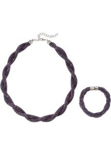 Колье + браслет (2 изд.) (серый) Bonprix