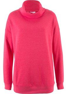 Свитшот покроя оверсайз с высоким воротником (ярко-розовый гибискус) Bonprix