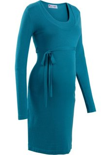 Платье с поясом (синий океан) Bonprix