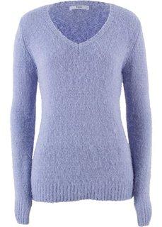 Пушистый пуловер с V-образным вырезом (нежно-лавандовый) Bonprix