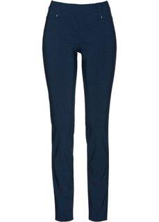 Стрейчевые брюки на резинке (темно-синий) Bonprix