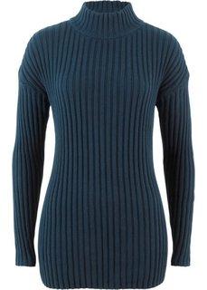 Пуловер с воротником-стойкой (темно-синий) Bonprix