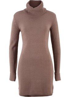 Вязаное платье (коричневый матовый) Bonprix