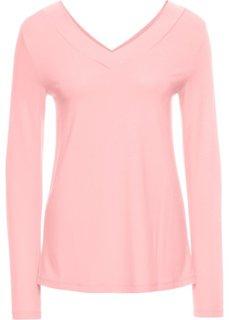 Футболка, базовый гардероб (розовый) Bonprix