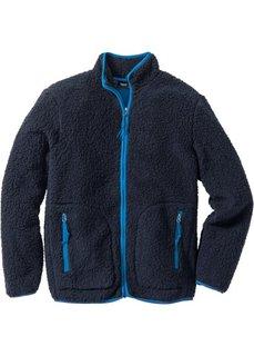Куртка Regular Fit (черный/лазурный) Bonprix