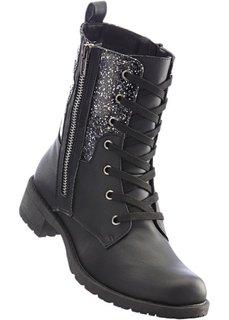 Ботинки на шнурках (черный) Bonprix