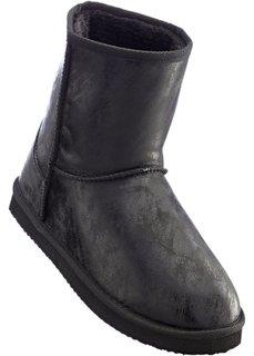 Зимние ботинки (черный металлик) Bonprix