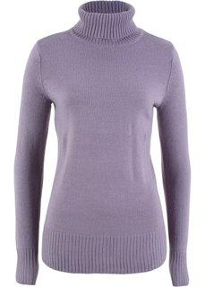 Пуловер с высоким воротником (дымчато-фиолетовый) Bonprix
