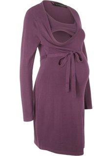 Платье с поясом (цвет бузины) Bonprix