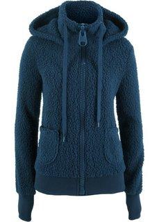 Плюшевая куртка (темно-синий) Bonprix