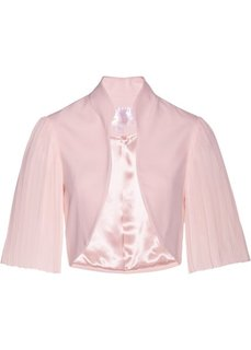 Болеро с плиссированными рукавами (нежно-розовый) Bonprix