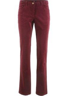 Вельветовые брюки-стретч (темно-бордовый) Bonprix
