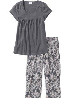 Пижама-капри (дымчато-серый/кремовый) Bonprix