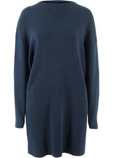Платье с воротником-стойкой (темно-синий) Bonprix