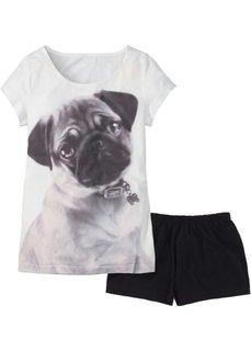 Пижама (2 изделия) (с рисунком собачки) Bonprix