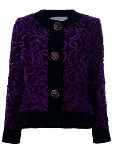 пиджак с вышивкой и крупными пуговицами Givenchy Vintage
