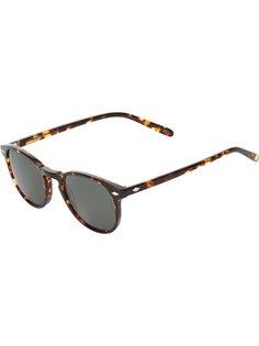 солнцезащитные очки с узором черепашьего панциря Lesca