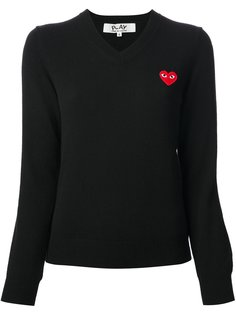 свитер с V-образным вырезом Comme Des Garçons Play