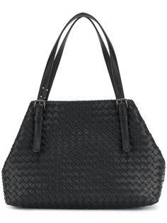 большая плетёная сумка Bottega Veneta