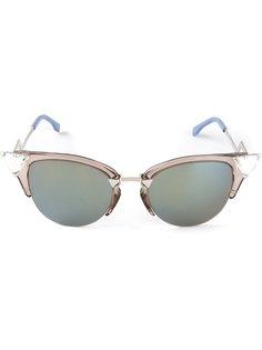 солнцезащитные очки с блестящими уголками Fendi Eyewear