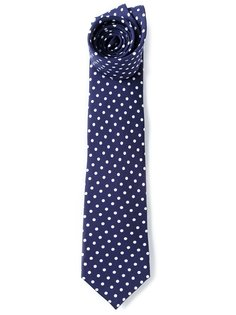 галстук с принтом в горошек Fefè