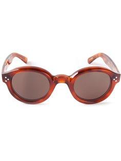 солнечные очки в круглой оправе Lesca