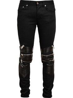 джинсы с отделкой молниями Saint Laurent