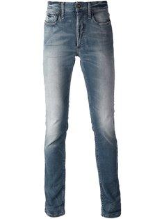 узкие джинсы слим с линялым эффектом Denham