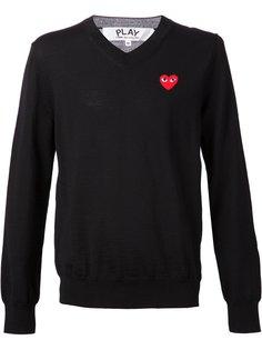 свитер с V-образным вырезом Play Comme Des Garçons Play
