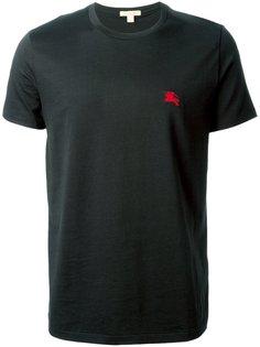 футболка с вышитым логотипом Burberry