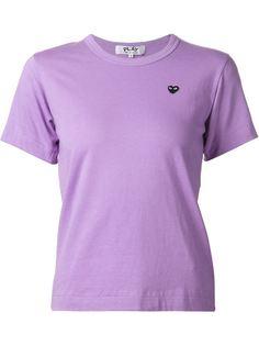 футболка с вышивкой-сердцем Comme Des Garçons Play