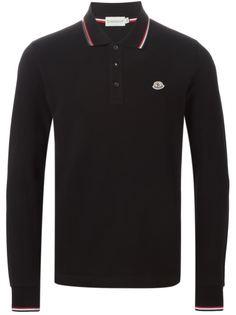 футболка-поло с длинными  рукавами  Moncler