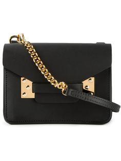 мини сумка через плечо с золотистыми деталями Sophie Hulme